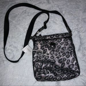 NWT silver cheetah coach crossbody
